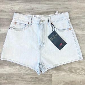 Levi's Highrise Light Wash Jean Shorts